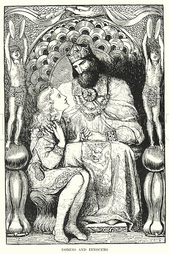 Doress and Innocens. Illustration for Allegories by Frederic W Farrar with illustrations by Amelia Bauerle (Longmans Green, 1898).