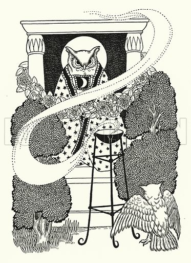 Escape of Jengis Khan. Illustration for A Hundred Anecdotes of Animals with pictures by Percy J Billinghurst (John Lane, The Bodley Head, 1901).