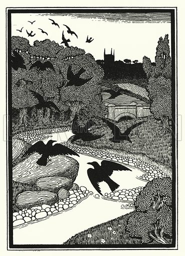 Humane Society. Illustration for A Hundred Anecdotes of Animals with pictures by Percy J Billinghurst (John Lane, The Bodley Head, 1901).