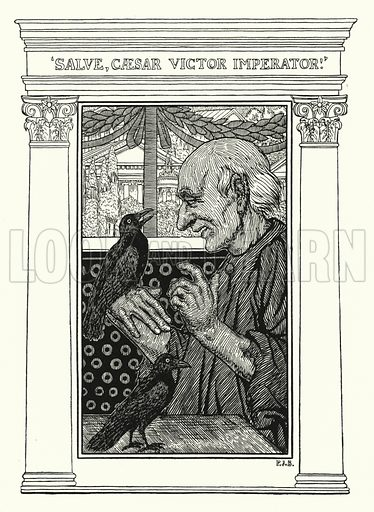 Making Sure. Illustration for A Hundred Anecdotes of Animals with pictures by Percy J Billinghurst (John Lane, The Bodley Head, 1901).