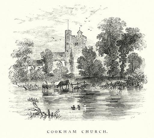 Cookham Church. Illustration for Animal Sagacity (S W Partridge, c 1866).