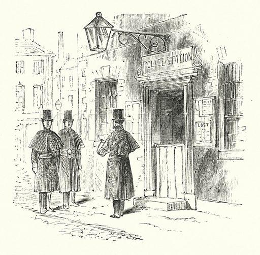 Police station. Illustration for Animal Sagacity (S W Partridge, c 1866).