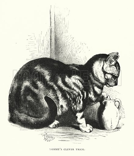 Tommy's clever trick. Illustration for Animal Sagacity (S W Partridge, c 1866).
