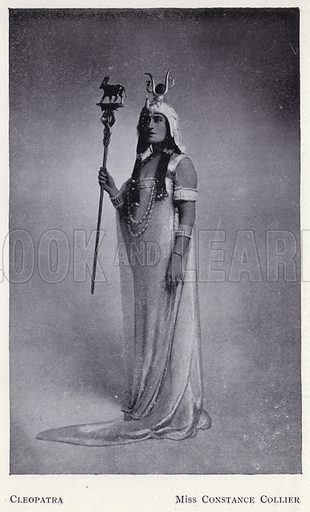 Cleopatra, Miss Constance Collier. Illustration for Shakespeare's Antony and Cleopatra as arranged for the stage by Herbert Beerbohm Tree (Warrington, 1907).  Photographs by F W Burford.