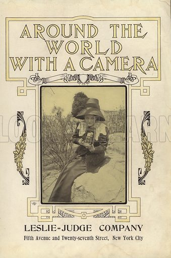 Title-page illustration for Around the World with a Camera (Leslie-Judge Company, 1910).