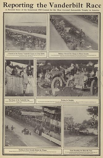 Reporting the Vanderbilt race. Illustration for Around the World with a Camera (Leslie-Judge Company, 1910).