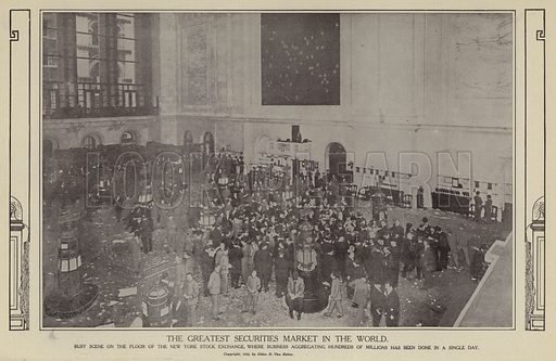 The greatest securities market in the world. Illustration for Around the World with a Camera (Leslie-Judge Company, 1910).