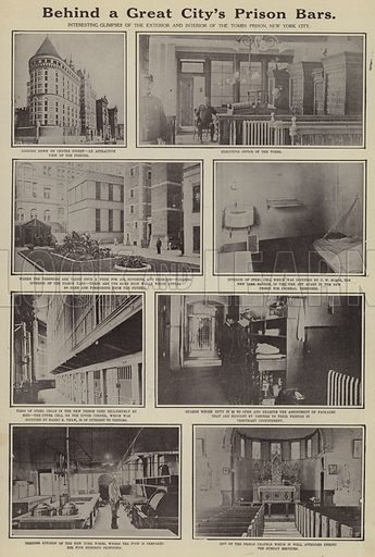 Behind a great city's prison bars. Illustration for Around the World with a Camera (Leslie-Judge Company, 1910).