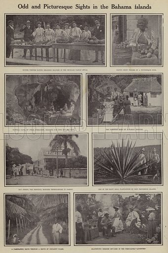 Odd and picturesque sights in the Bahama Islands. Illustration for Around the World with a Camera (Leslie-Judge Company, 1910).