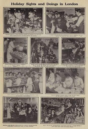 Holiday sights and doings in London. Illustration for Around the World with a Camera (Leslie-Judge Company, 1910).