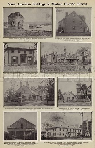 Some American buildings of marked historic interest. Illustration for Around the World with a Camera (Leslie-Judge Company, 1910).