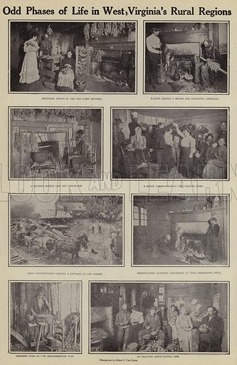 Odd phases of life in West Virginia's rural regions. Illustration for Around the World with a Camera (Leslie-Judge Company, 1910).