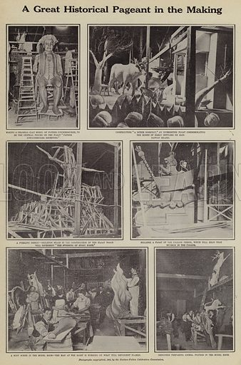 A great historical pageant in the making. Illustration for Around the World with a Camera (Leslie-Judge Company, 1910).