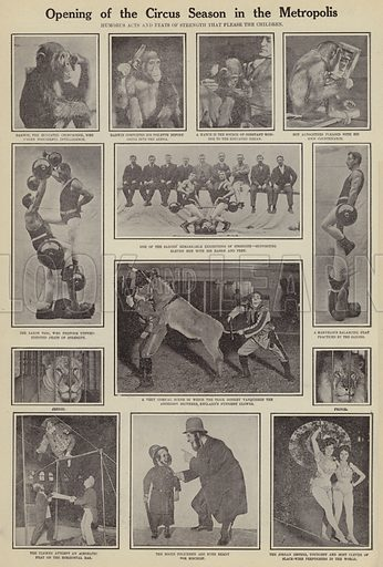Opening of the circus season in the Metropolis. Illustration for Around the World with a Camera (Leslie-Judge Company, 1910).