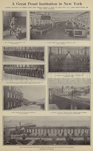 A great penal institution in New York. Illustration for Around the World with a Camera (Leslie-Judge Company, 1910).