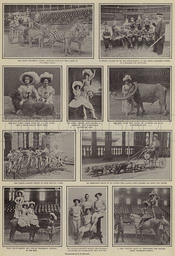 Circus. Illustration for Around the World with a Camera (Leslie-Judge Company, 1910).