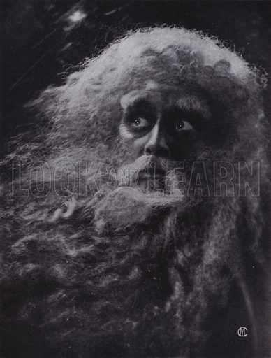 King Lear. Illustration for The Art of Theatrical Make-up by Cavendish Morton (1874-1939) (A&C Black, 1909).