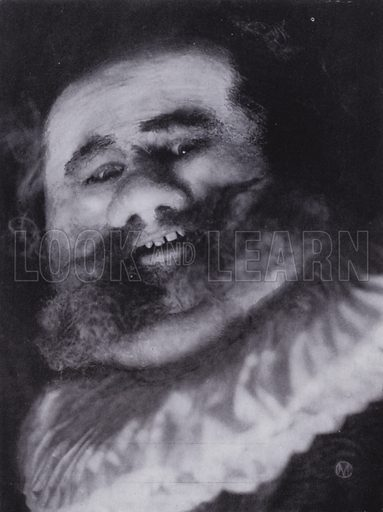 Falstaff. Illustration for The Art of Theatrical Make-up by Cavendish Morton (1874-1939) (A&C Black, 1909).