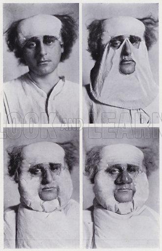 Theatrical make-up: Falstaff, progressive pictures