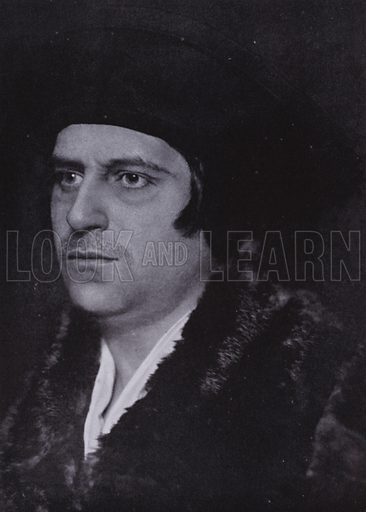 Sir Thomas More. Illustration for The Art of Theatrical Make-up by Cavendish Morton (1874-1939) (A&C Black, 1909).