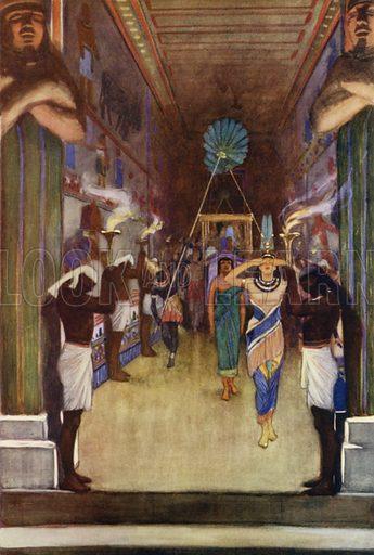 The burial of Pharaoh. Illustration for Arthur Mee's Golden Year (Hodder and Stoughton, c 1922).