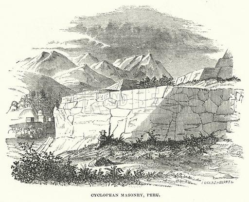 Cyclopean Masonry, Peru. Illustration for Atlantis, The Antidiluvian World by Ignatius Donnelly (Harper, c 1898).
