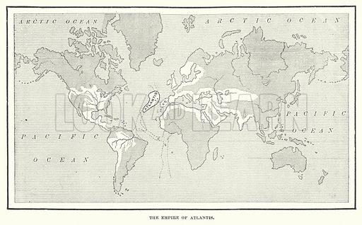 The Empire of Atlantis. Illustration for Atlantis, The Antidiluvian World by Ignatius Donnelly (Harper, c 1898).