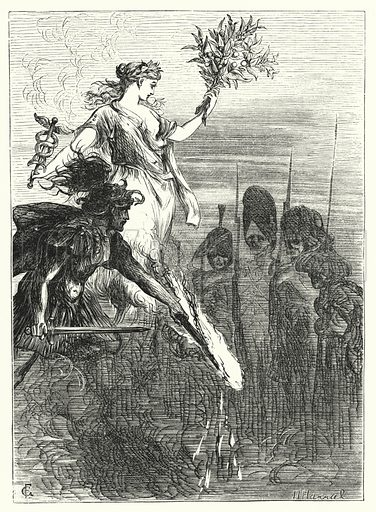 War and the dead. Illustration for Aunt Judy's Magazine, 1866.