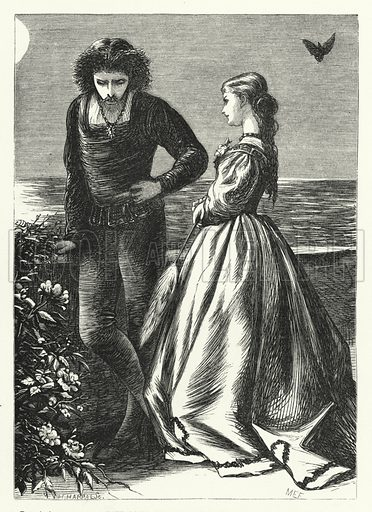 The soul of my minstrel is sad. Illustration for Aunt Judy's Magazine, 1866.