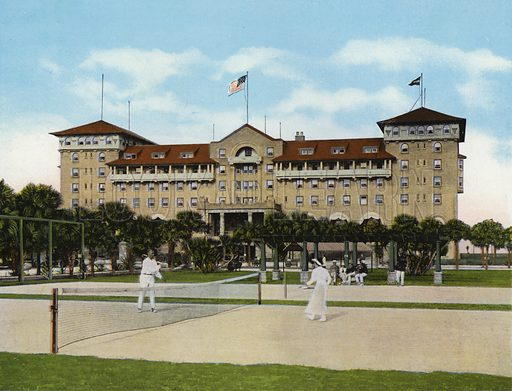 Hotel Clarendon, Seabreeze, Florida. Illustration for Beautiful Florida, The Winter Playground of the Nation (Curt Teich, c 1920).