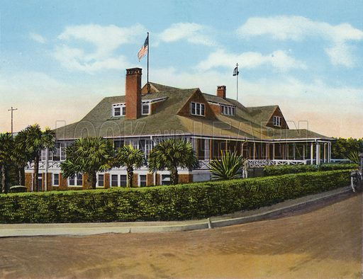 Country Club, Palm Beach, Florida. Illustration for Beautiful Florida, The Winter Playground of the Nation (Curt Teich, c 1920).
