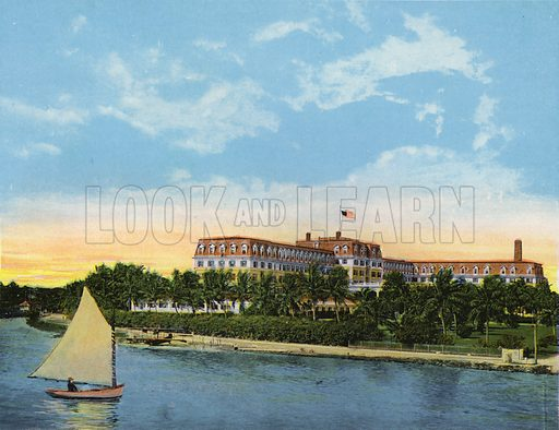 Hotel Royal Palm, Miami, Florida. Illustration for Beautiful Florida, The Winter Playground of the Nation (Curt Teich, c 1920).