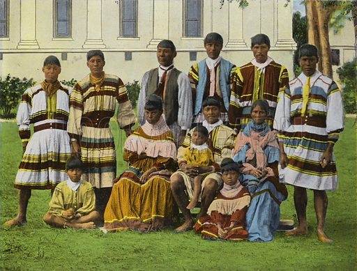 Seminole Indians, Miami, Florida. Illustration for Beautiful Florida, The Winter Playground of the Nation (Curt Teich, c 1920).