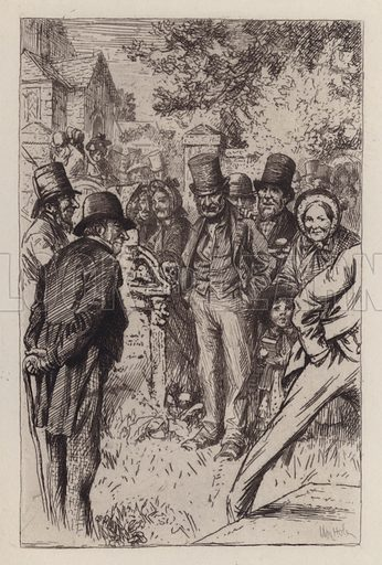 A Feckless, Fushionless Wratch. Illustration for Beside the Bonnie Brier Bush by Ian Maclaren (Hodder and Stoughton, c 1896).