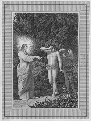 The Curse Pronounced, Genesis, III, 14. Illustration for unidentified volume of Bible illustrations, c 1835.