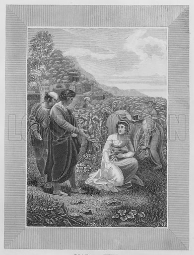 Boaz and Ruth, Ruth, Chapter 11, 10. Illustration for unidentified volume of Bible illustrations, c 1835.