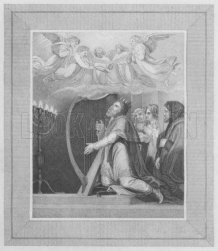 David, Psalm, 1. Illustration for unidentified volume of Bible illustrations, c 1835.