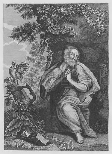 Peter's Repentance, Luke, XXII, 61, 62. Illustration for unidentified volume of Bible illustrations, c 1835.