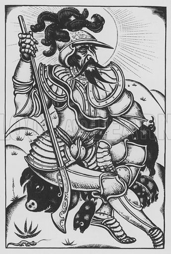 Hernando De Soto. Illustration for A Book of Americans by Rosemary and Stephen Vincent Benet (Farrar and Rinehart, 1933).