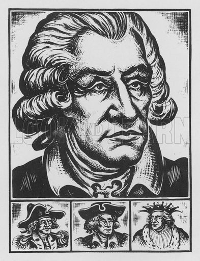 George Washington. Illustration for A Book of Americans by Rosemary and Stephen Vincent Benet (Farrar and Rinehart, 1933).
