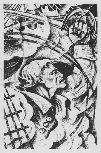 John Paul Jones. Illustration for A Book of Americans by Rosemary and Stephen Vincent Benet (Farrar and Rinehart, 1933).