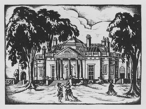 Monticello. Illustration for A Book of Americans by Rosemary and Stephen Vincent Benet (Farrar and Rinehart, 1933).