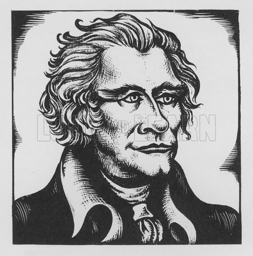 Alexander Hamilton. Illustration for A Book of Americans by Rosemary and Stephen Vincent Benet (Farrar and Rinehart, 1933).