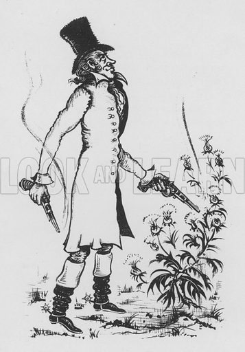 Aaron Burr. Illustration for A Book of Americans by Rosemary and Stephen Vincent Benet (Farrar and Rinehart, 1933).