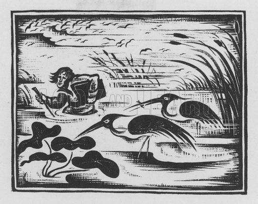John James Audubon. Illustration for A Book of Americans by Rosemary and Stephen Vincent Benet (Farrar and Rinehart, 1933).