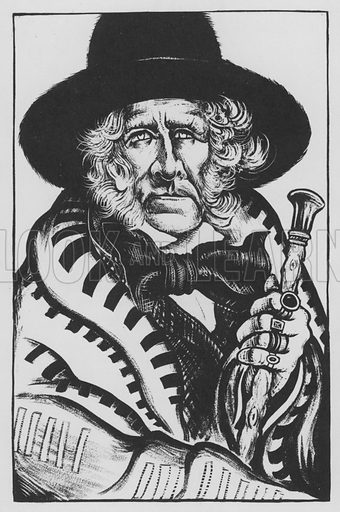 Sam Houston. Illustration for A Book of Americans by Rosemary and Stephen Vincent Benet (Farrar and Rinehart, 1933).