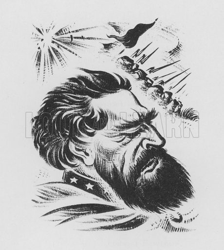 Stonewall Jackson. Illustration for A Book of Americans by Rosemary and Stephen Vincent Benet (Farrar and Rinehart, 1933).