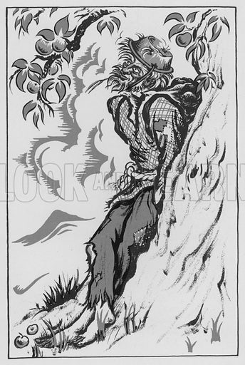 Johnny Appleseed. Illustration for A Book of Americans by Rosemary and Stephen Vincent Benet (Farrar and Rinehart, 1933).