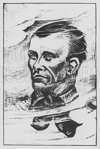Jesse James. Illustration for A Book of Americans by Rosemary and Stephen Vincent Benet (Farrar and Rinehart, 1933).