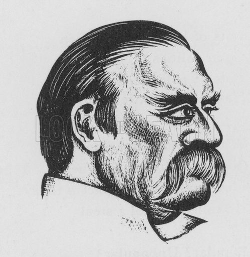 Grover Cleveland. Illustration for A Book of Americans by Rosemary and Stephen Vincent Benet (Farrar and Rinehart, 1933).